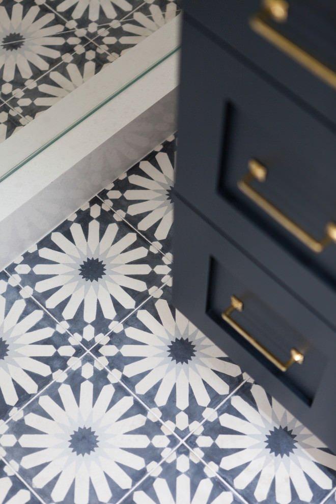 Blue Cement Tile