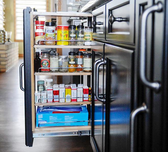 Kitchen Storage Grey