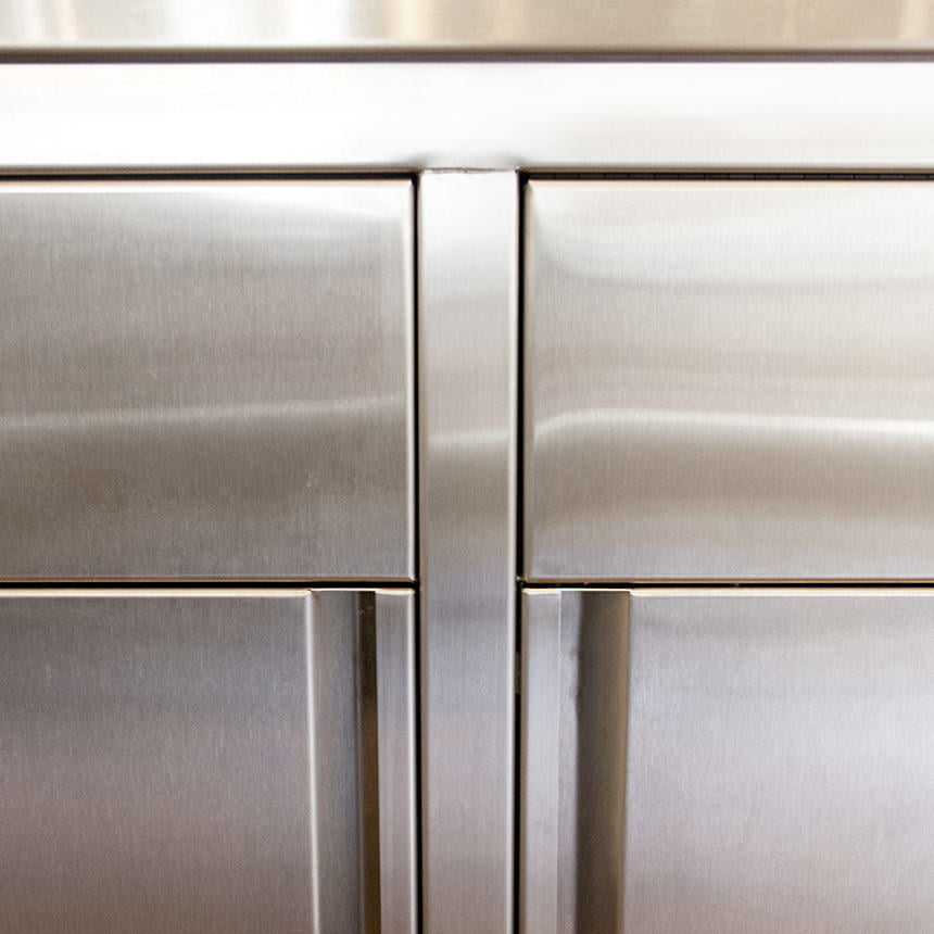 Custom Stainless Steel Kitchen Drawer