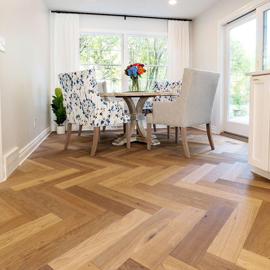 Kitchen Flooring Idea Herringbone Hardwood