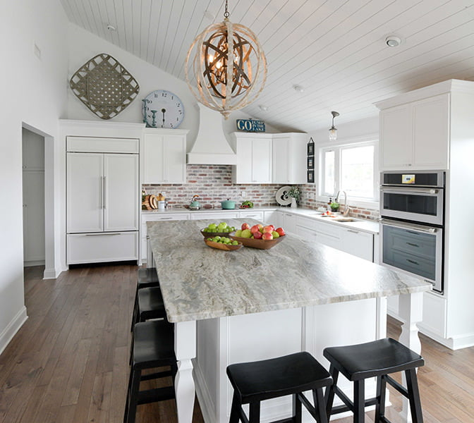 Open Kitchen Design After Removing Walls