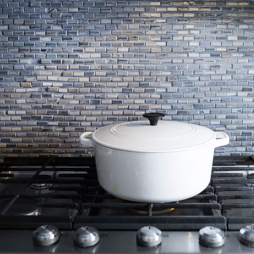 Slate Stone Tile Kitchen Backsplash
