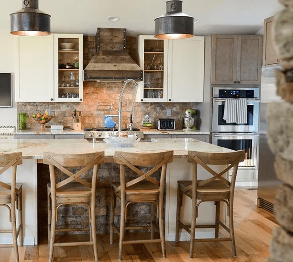 redefined rustic kitchen backsplash